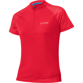 Löffler Rise Half-Zip Bike Shirt Women flamenco